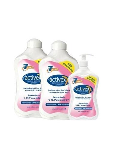 Activex Activex Antibakteriyel Sıvı Sabun Nemlendiricili 1500 + 1500 + 7 Renksiz